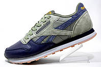 Мужские кроссовки Reebok Classic Leather PM, Khaki\Dark Blue
