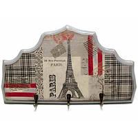 Ключница вешалка деревянная Париж