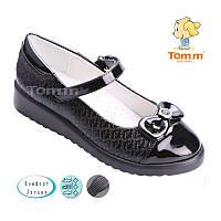 Туфли черные для девочек на танкетке Tom.m  Размеры: 34 - 39