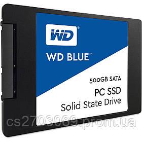 """Твердотельный накопитель WD SSD SATA2.5"""" 500GB TLC BLUE WDS500G1B0A"""
