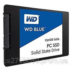 """Твердотельный накопитель WD SSD SATA2.5"""" 250GB TLC BLUE WDS250G1B0A"""