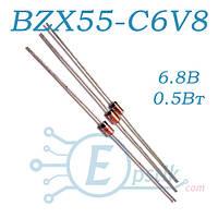 BZX55-C6V8 стабилитрон 6.8В, 0.5Вт, DO35