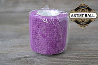 Бинт эластичный фиолетовый, бандажный, для держателей татуировочных машинок