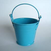 Ведро декоративное, голубое