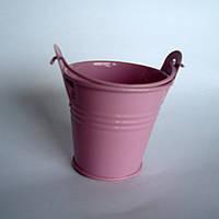 Ведро декоративное, розовое
