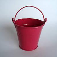 Ведро декоративное, ярко розовое