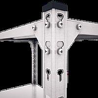 Металлические стеллажи «МКП»250кг с металлической полкой