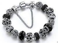 Женский браслет SHARM в стиле PANDORA - Black
