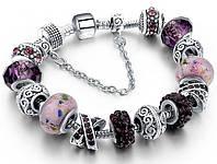 Женский браслет SHARM в стиле PANDORA - Purple