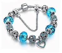 Женский браслет HEART в стиле PANDORA - Blue
