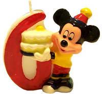 Свеча-цифра для торта Микки-Маус 6