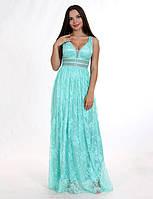 Платье вечернее из кружева шантильи