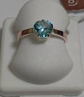 Кольцо серебряное с золотом и бирюзовым камнем Линда