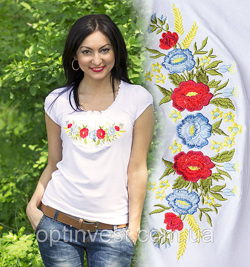 Жіноча футболка вишиванка трикотаж
