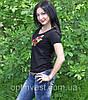 "Трикотажна жіноча  футболка ""месик"", фото 4"