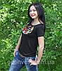 """Красива футболка вишиванка для жінок """"Колосок"""", фото 4"""