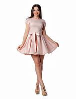 Платье коктейльное с рукавами тюльпанами