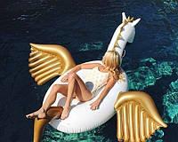 Надувной матрас Пегас с золотыми крыльями 250 см