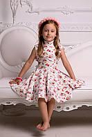 """Льняное детское платье """"Солнце"""" с цветочным принтом (2 цвета)"""