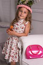 """Льняное детское платье """"Солнце"""" с цветочным принтом (2 цвета), фото 3"""