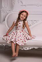 """Льняное детское платье """"Солнце"""" с цветочным принтом (2 цвета), фото 2"""