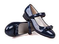 Стильные синие туфли для девочки р 31-36