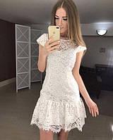 Кружевное короткое женское платье P6936