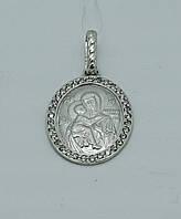 Медальон Богородица с камнями