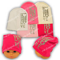 Детские шапки из трикотажа, Y116