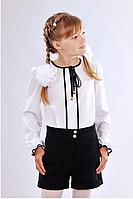 Черные класические шорты-юбка для девочки