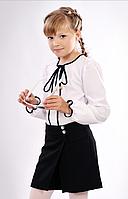 Класические черные шорты-юбка для школьници