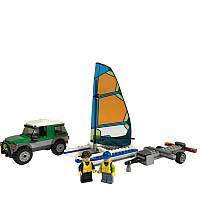 Lego City Внедорожник с прицепом для катамарана Great Vehicles 4x4 with Catamaran 60149 Building Kit