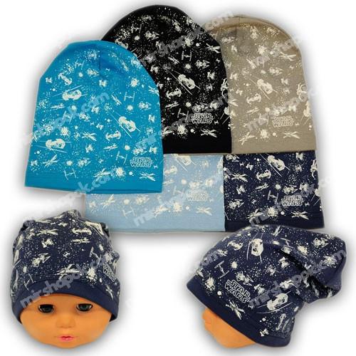 b3bb5c27c99 Детские шапки из трикотажа с принтом