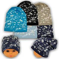 Детские шапки из трикотажа с принтом, Y112