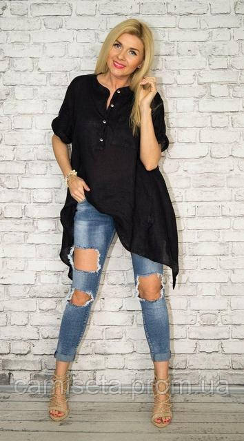 2972f810a15b789 Асимметричная женская рубашка-туника из льна P6896: продажа, цена в ...