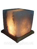 Солевая лампа, светильник Кубик 9-10 кг