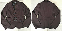 Пиджак школьный подростковый для девочек, ткань мадонна, размеры 140,146,152,158 см