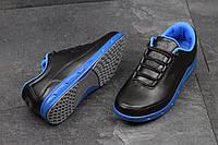 Молодежные кроссовки ECCO YAK, черные с синим