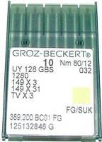 Голка Groz-Beckert UY128GBS, 1280, 149x3 FG трикотажна для распошивалок 10 шт/уп