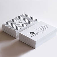 Печать визиток с готового макета 4+4 - бумага 350г/м.кв - 1000шт