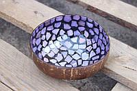 Кокосовая декоративная мисочка, кашпо №22