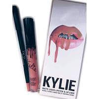 Матовый блеск Kylie и  мягкий карандаш для губ  12 шт в наборе