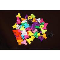 """Крабики цветные яркие """"Квадратный"""", (100 шт), ВВ0027"""