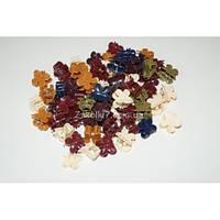 """Крабики цветные тёмный """"Бабочки"""", (100 шт), ВВ0028"""
