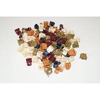 """Крабики цветные тёмный """"Пальчики"""", (100 шт), ВВ0029"""