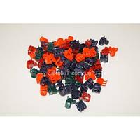 """Крабики цветные тёмный """"Пальчики 2"""", (100 шт), ВВ0029"""