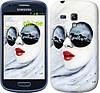 "Чехол на Samsung Galaxy S3 mini Девушка акварелью ""2829c-31-532"""