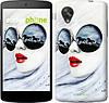 "Чехол на LG Nexus 5 Девушка акварелью ""2829c-57-532"""