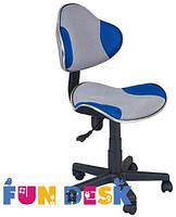 Ортопедическое детское кресло для школьников 7-18+ лет ТМ FunDesk Голубой+серый LST3 Blue-Grey