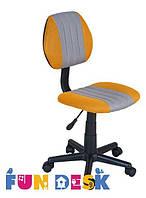 Ортопедическое детское кресло Fundesk LST4 (Нагрузка до 80 кг, 7-16 лет) ТМ FunDesk Желтый+серый LST4 Yellow-Grey